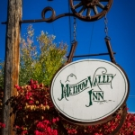 Inn sign in Fall