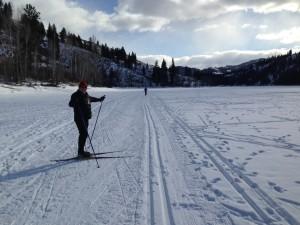 Snow on Patterson Lake 2014